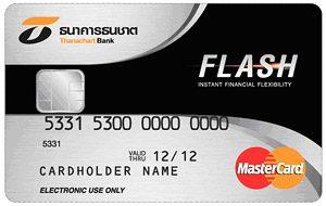 สมัครทำบัตรกดเงินสดธนชาต Flash Plus