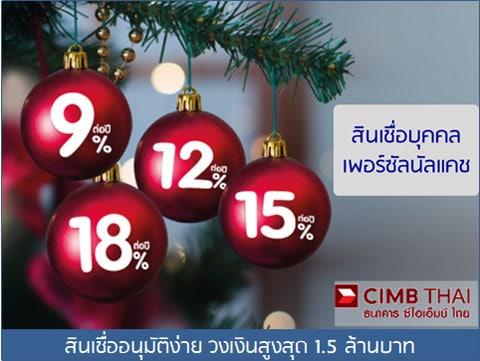 CIMB-สินเชื่อบุคคลอนุมัติง่าย รู้ผลเร็ว